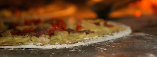 Pizzadej uden gær