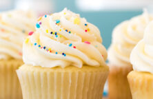 Billede af cupcake med smørcreme