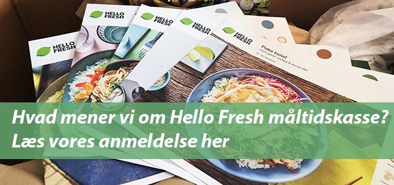Læs vores test af HelloFresh